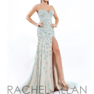 Rachel Allan dress size 4 mint green color